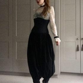 Vintage black harem pants