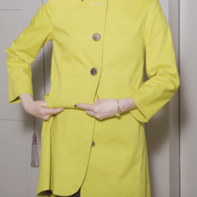 Kate McGuire shows how to convert a coat to a jacket - Converted Closet