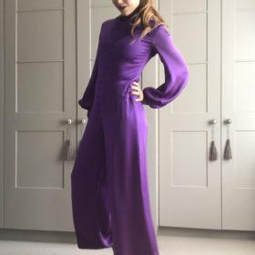 Jean Muir vintage purple jumpsuit