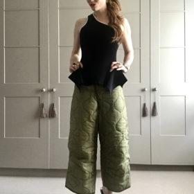 Vintage sleeping bag trousers